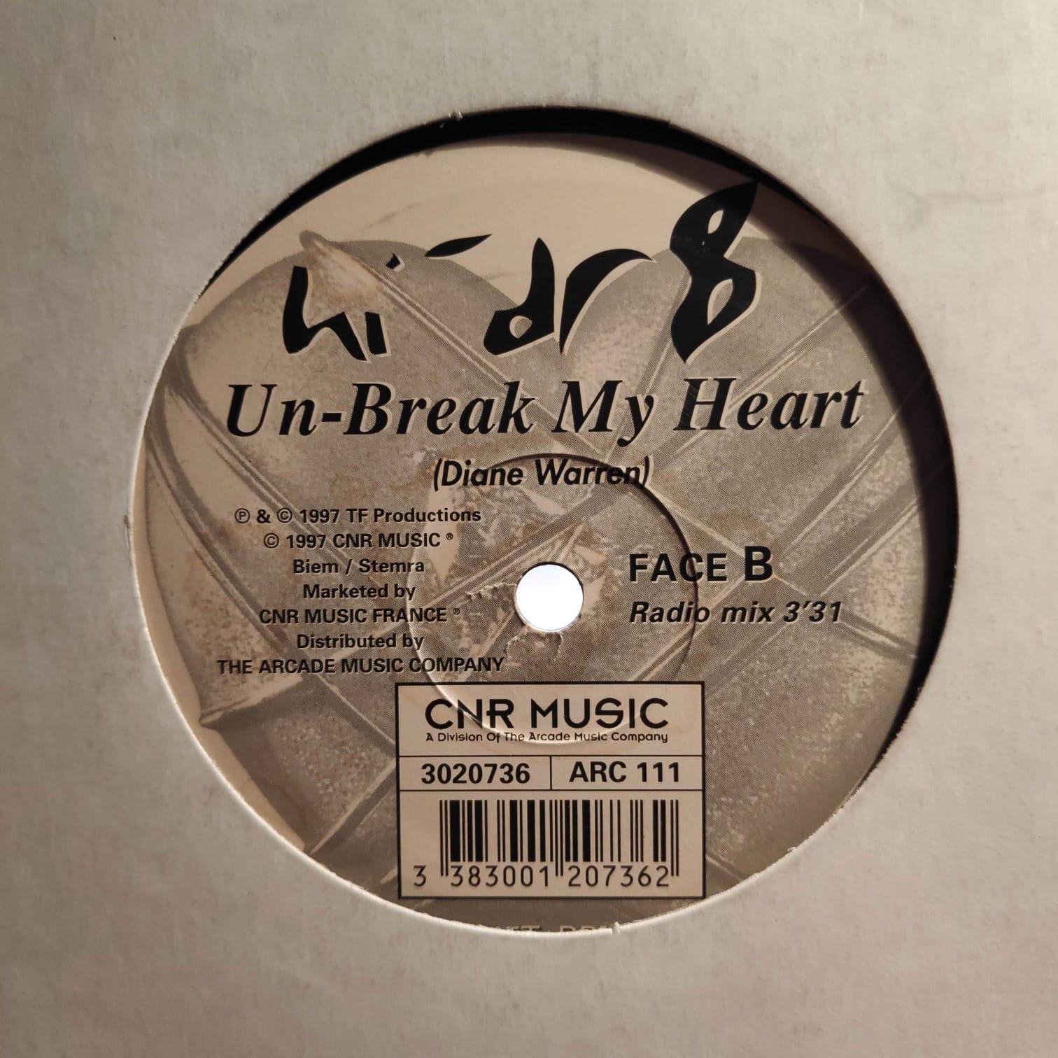 (AA00078) Hi-Dr8 – Un-Break My Heart (The Clubmixes)