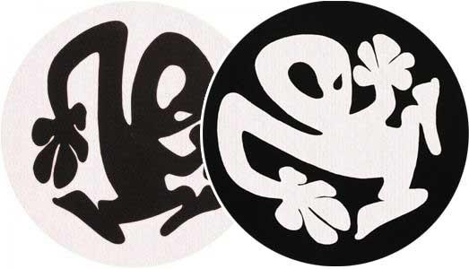 2x Slipmats - Plasticman - Black & White