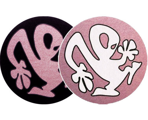 2x Slipmats - Plasticman - negro - rosa - blanco