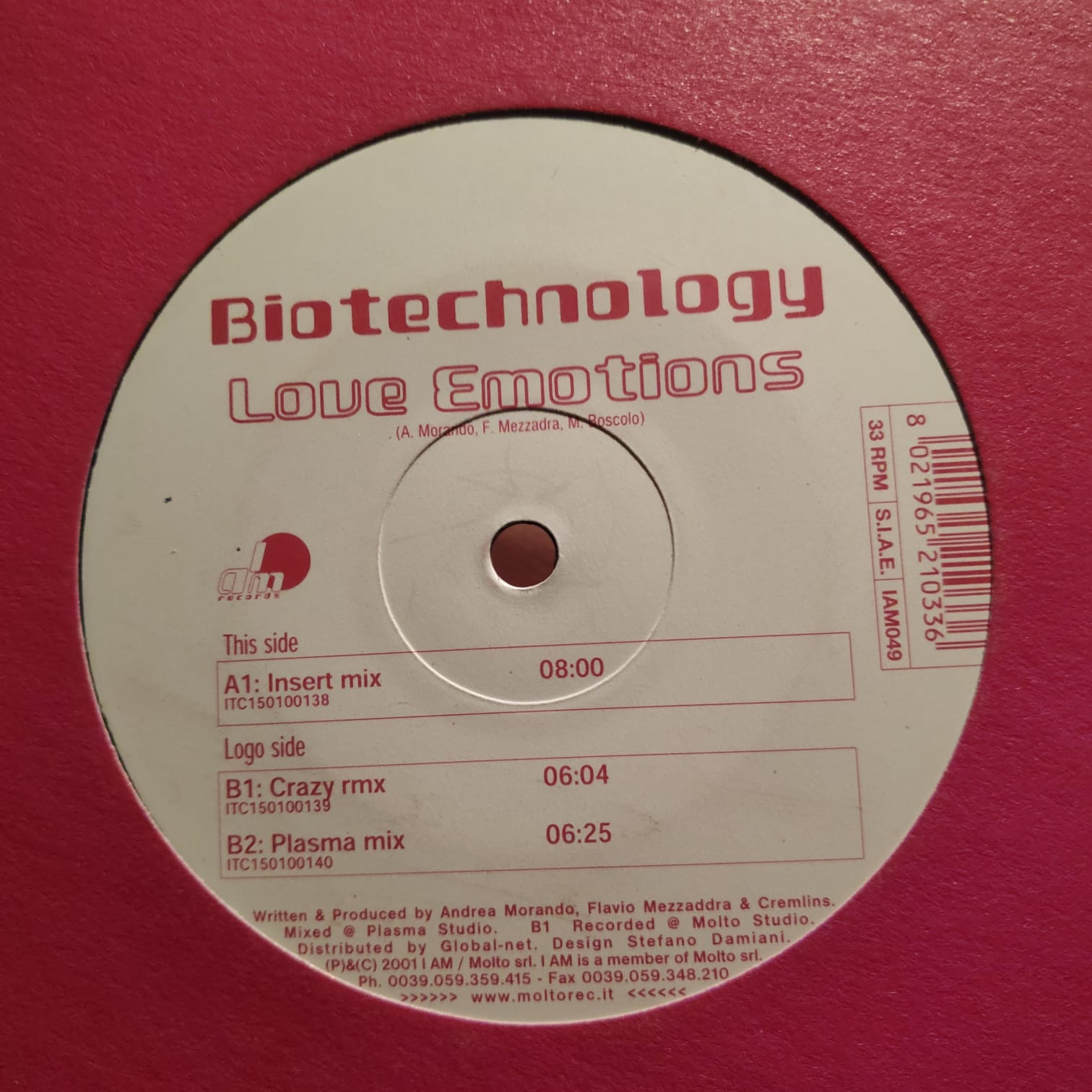 (A1788) Biotechnology ‎– Love Emotions