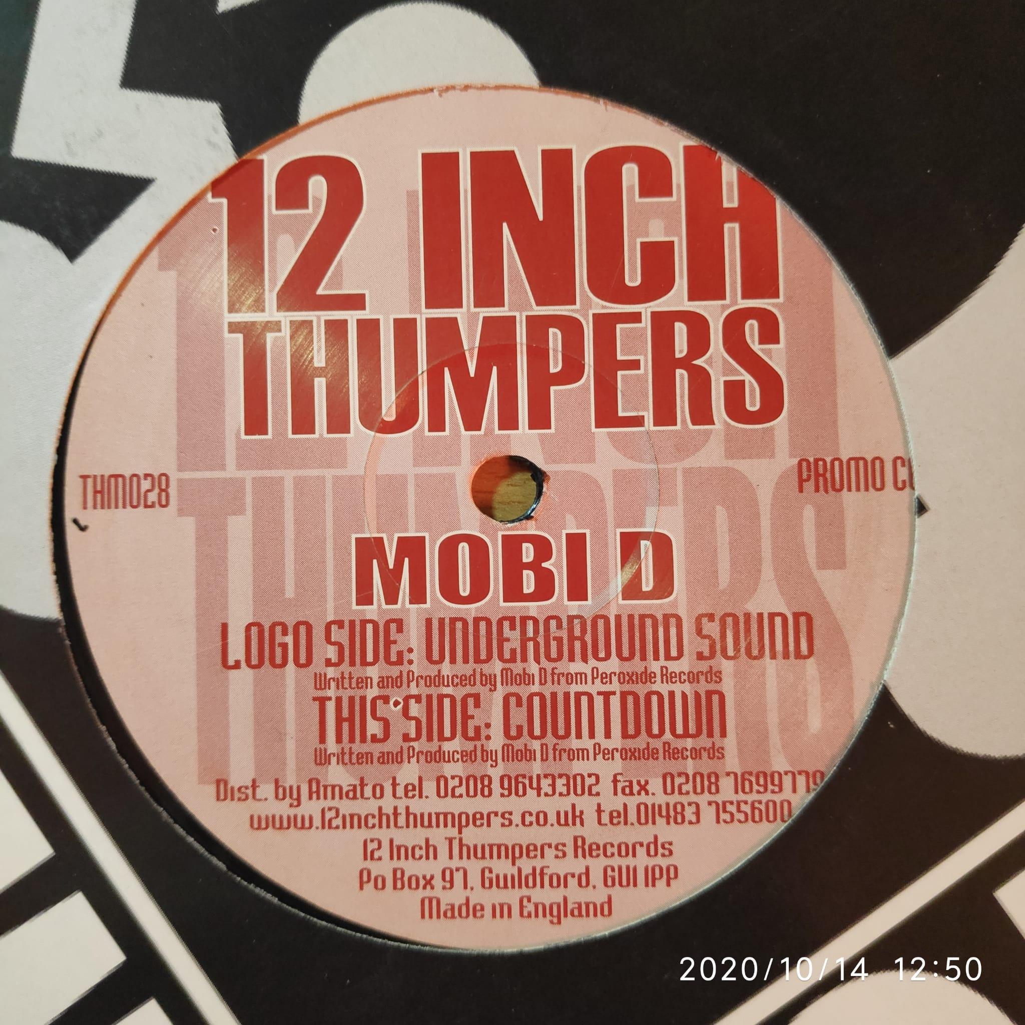 (CUB0897) Mobi D – Underground Sound / Countdown