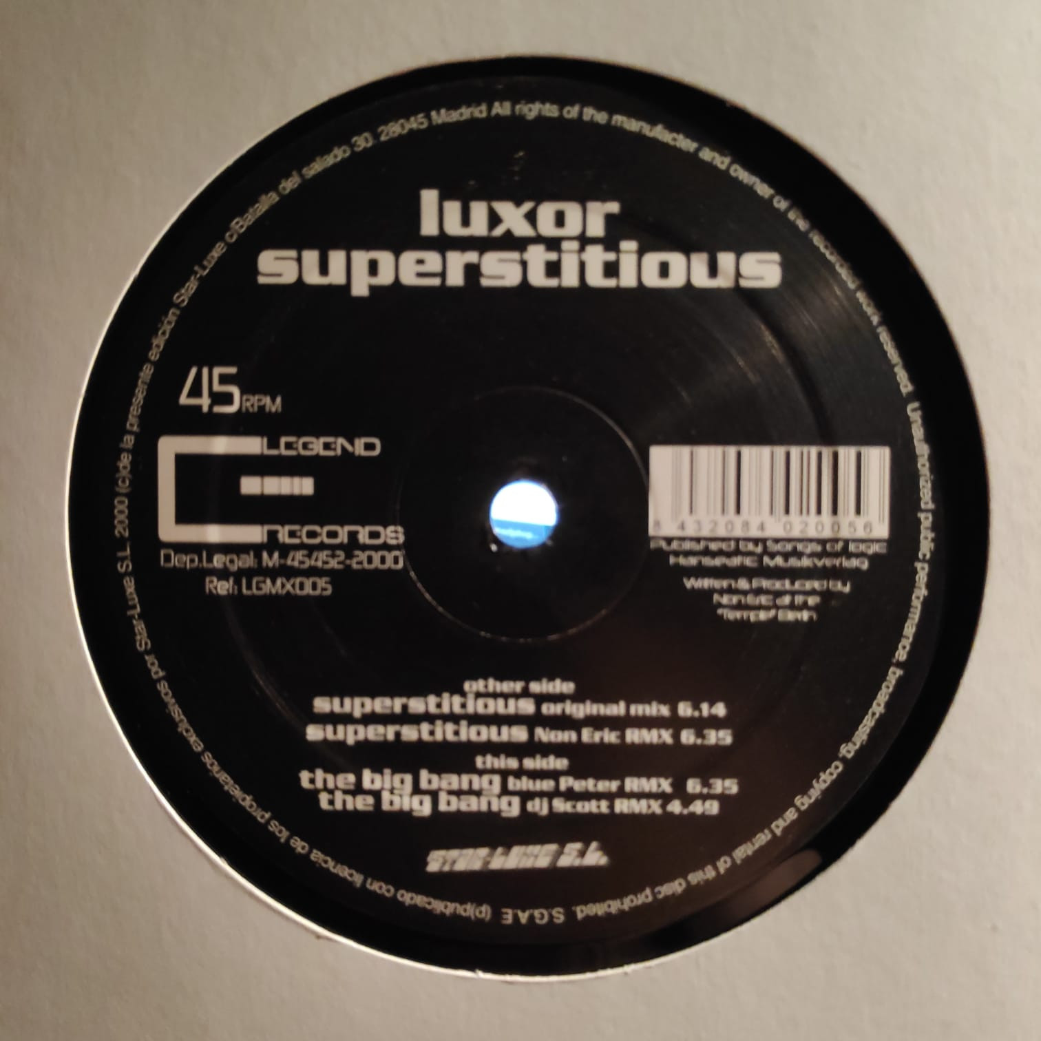 (0066) Luxor – Superstitious / The Big Bang