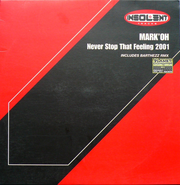 (A0049) Mark 'Oh – Never Stop That Feeling 2001