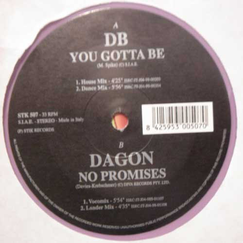 (23159) DB / Dagon – Your Gotta Be / No Promises