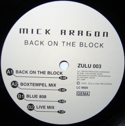 (24439) Mick Aragon ‎– Back On The Block