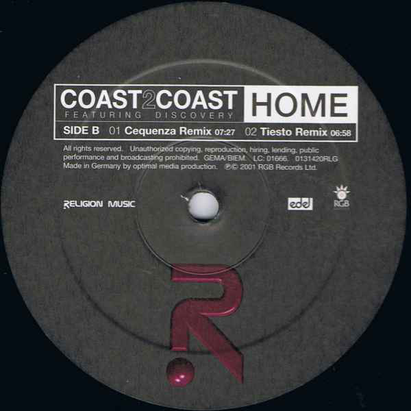 (28190) Coast 2 Coast Featuring Discovery ‎– Home
