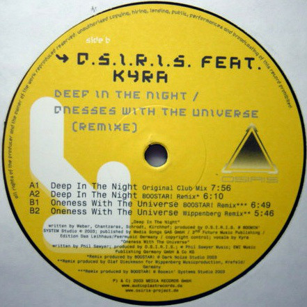 (23556) O.S.I.R.I.S. Feat. Kyra ‎– Deep In The Night / Oneness With The Universe (Remixe) (TEMAZO PANIC)