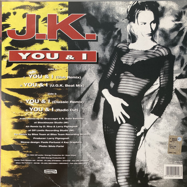 (0890B) J.K. ‎– You & I (Remix '95)