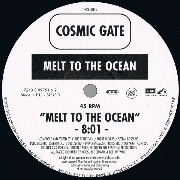 (21835) Cosmic Gate – Exploration Of Space / Melt To The Ocean