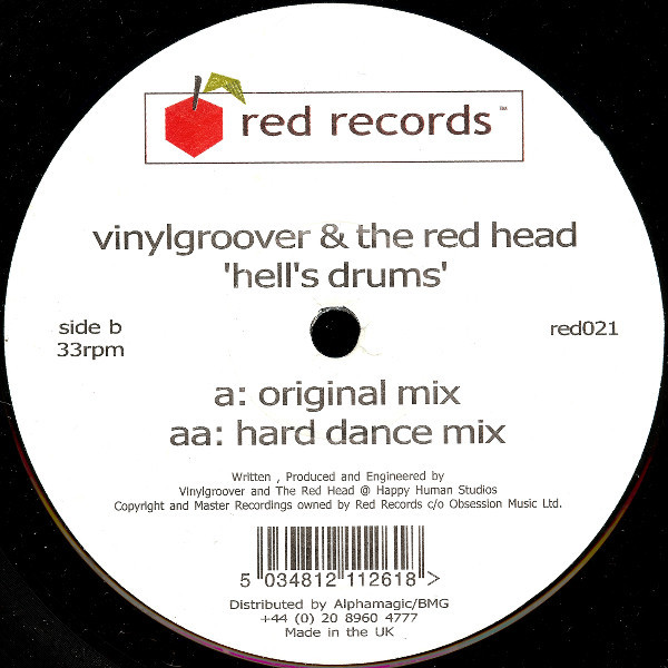 (V0199) Vinylgroover & The Red Hed – Hell's Drums