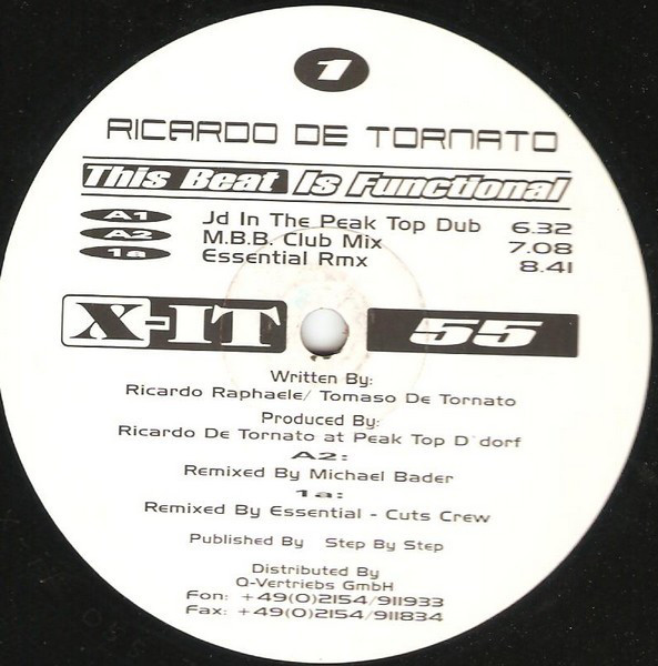 (A3006) Ricardo De Tornato – This Beat Is Functional
