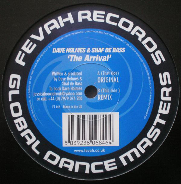 (27198) Dave Holmes & Shaf De Bass ‎– The Arrival