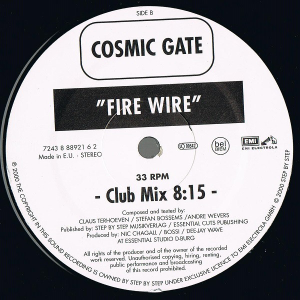 (0253) Cosmic Gate ‎– Fire Wire / Somewhere Over The Rainbow