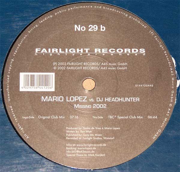 (28530) Mario Lopez vs. DJ Headhunter – Missing 2002
