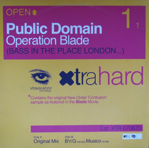 (7092) Public Domain – Operation Blade (Bass In The Place London...)