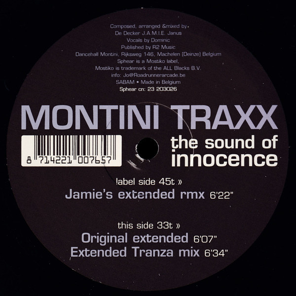 (20441B) Montini Trax ‎– The Sound Of Innocence Goes On