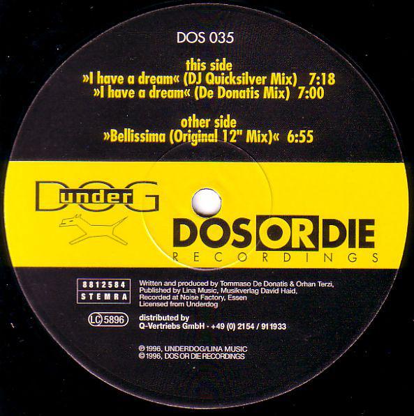 (22304) DJ Quicksilver – I Have A Dream / Bellissima