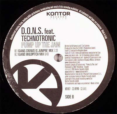 (A3025B) D.O.N.S. Feat. Technotronic – Pump Up The Jam