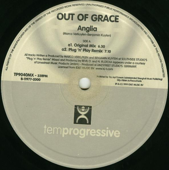 (13881B) Out Of Grace ‎– Anglia (The Remixes)