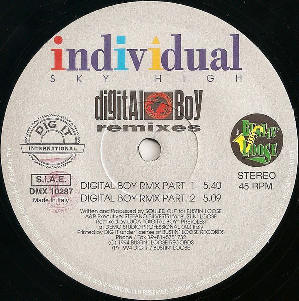 (CM1157) Individual – Sky High (Digital Boy Remixes)