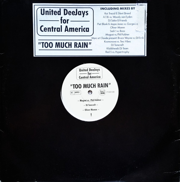 (20596) United Deejays For Central America ‎– Too Much Rain (2x12)