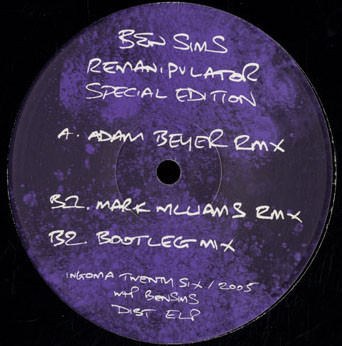 (P020) Ben Sims ‎– Remanipulator (Special Edition) (G+/Generic)