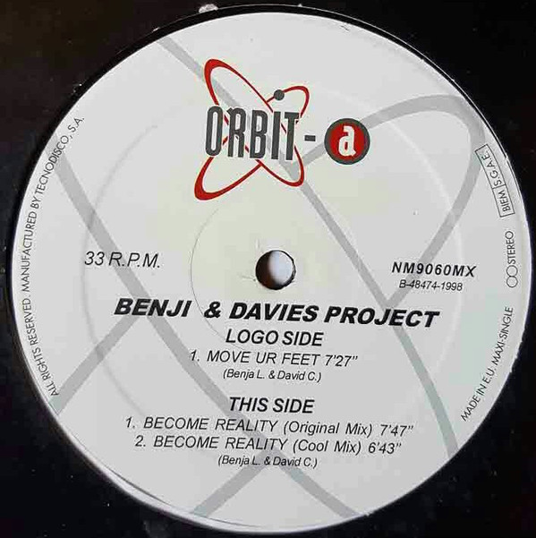 (CUB2458) Benji & Davies Project ‎– Move Ur Feet / Become Reality