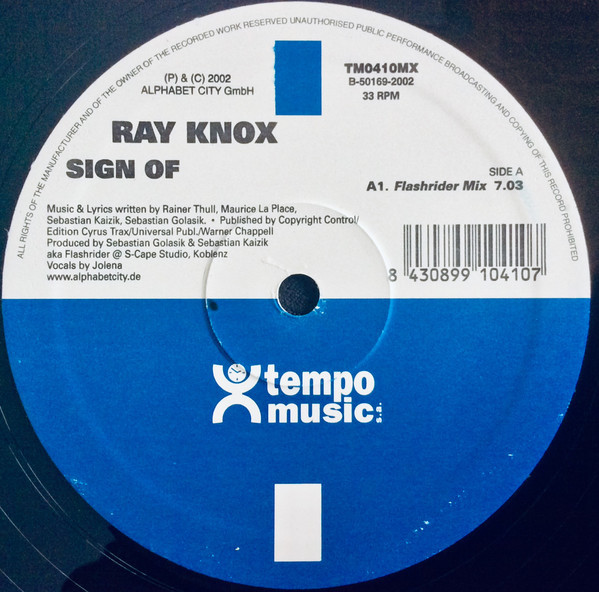 (S0114) Ray Knox – Sign Of Love