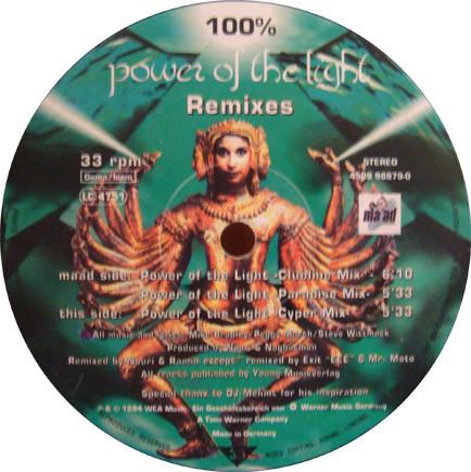 (26795) 100% – Power Of The Light (Remixes)