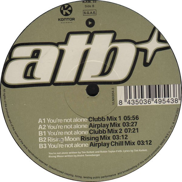 (V024) ATB – You're Not Alone