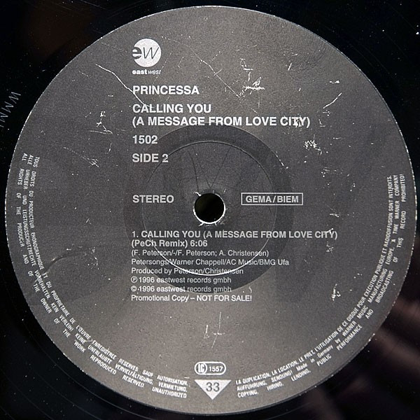 (26943) Princessa – Calling You (A Message From Love City)
