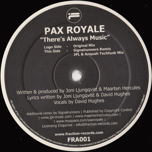 (27322) Pax Royale – There's Always Music
