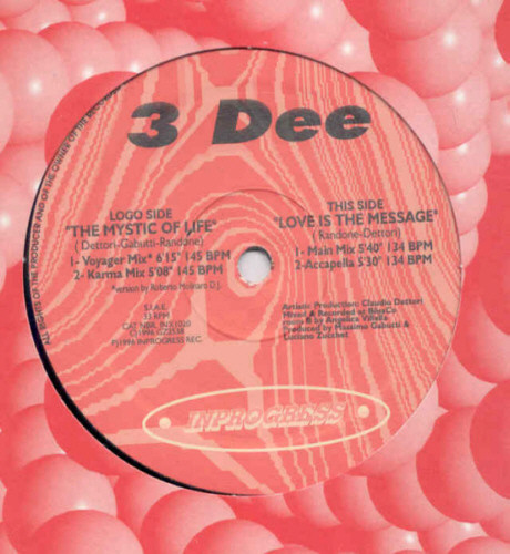 (24808) 3 Dee ‎– The Mystic Of Life / Love Is The Message