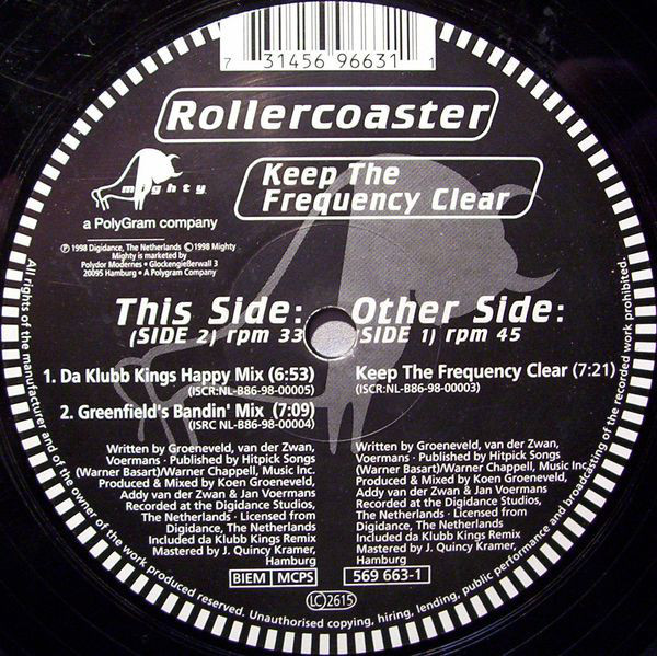 (A0569) Rollercoaster ‎– Keep The Frequency Clear