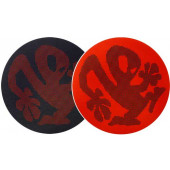 2x Slipmats - Plasticman Dots - Black & Red